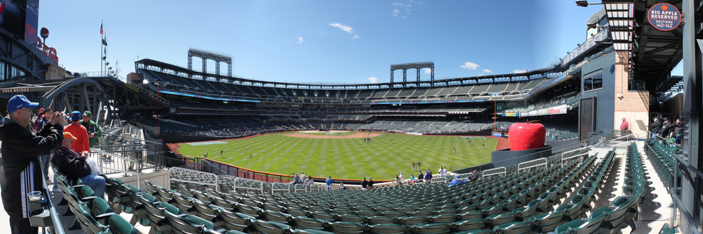 Citi Field Panorama - Back of the Home Run Apple Section