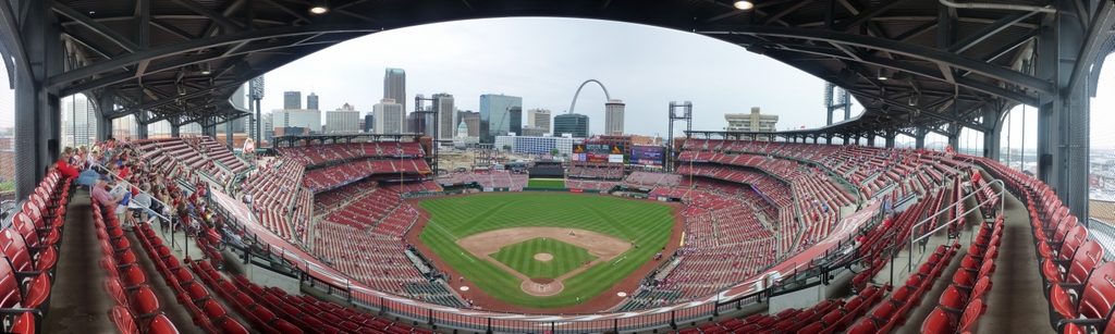 Busch Stadium Panorama - St. Louis Cardinals - Home Plate