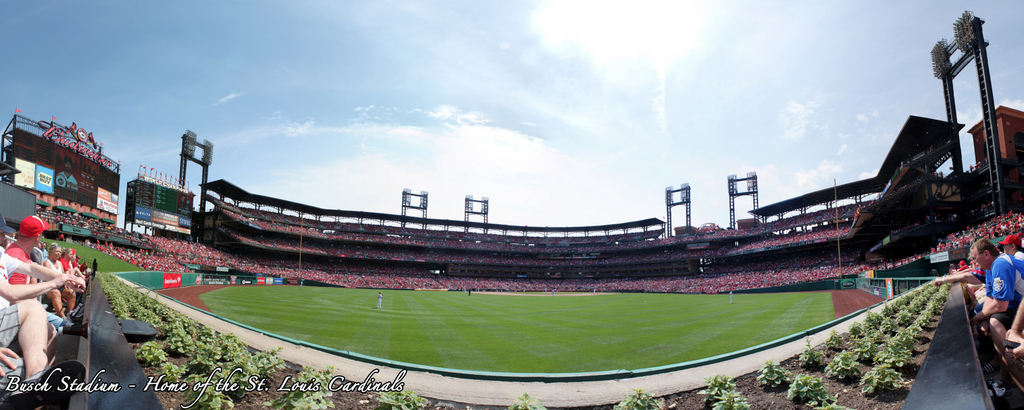 Busch Stadium Panorama - St. Louis Cardinals - Bleachers View