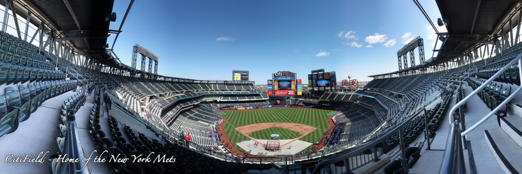 Citi Field Panorama - Opening Day Promenade Behind Home Plate