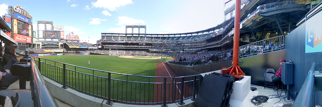 Citi Field Panorama - New York Mets - Left Field Foul Pole