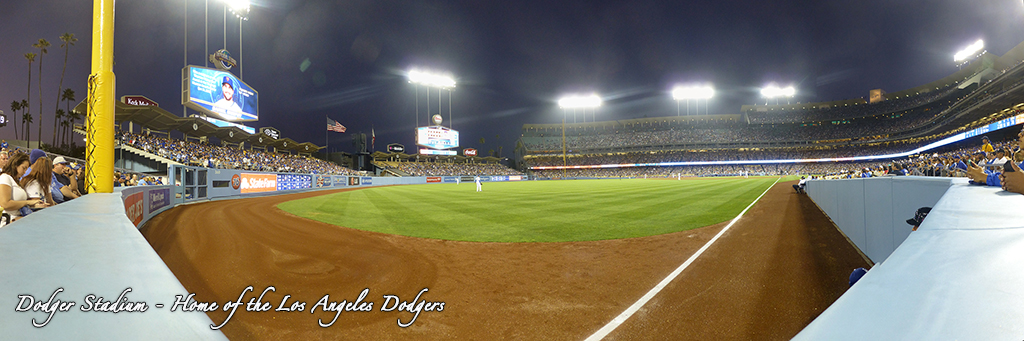 Dodger Stadium Panorama - Los Angeles Dodgers - Field Level