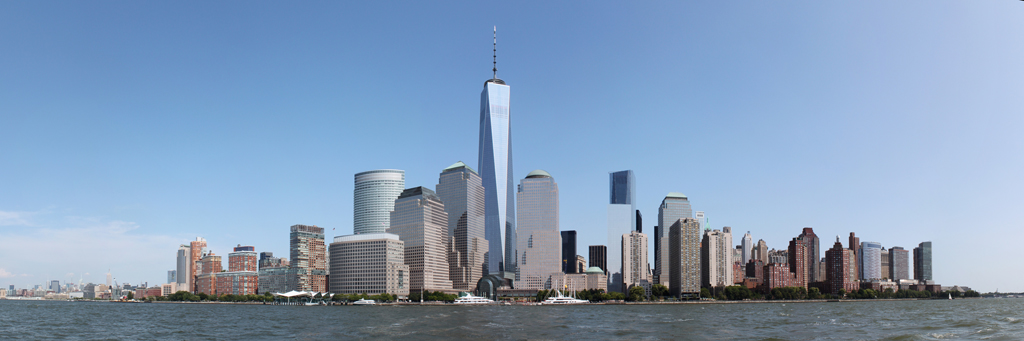 New York City Skyline and Freedom Tower Panorama