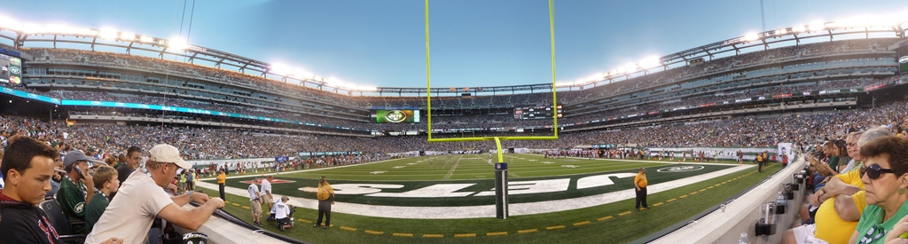 NY Jets - MetLife Stadium Front Row behind the Goal Line 9d3cf50a6