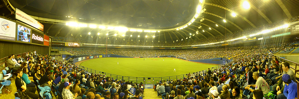 Olympic Stadium Outfield Panorama - Home of the Montreal Expos