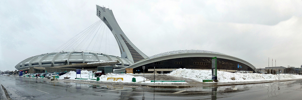 Olympic Stadium Exterior Panorama - Home of the Montreal Expos