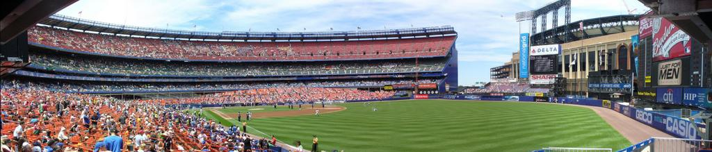 Shea Stadium - Former home of the New York Mets - Field Level