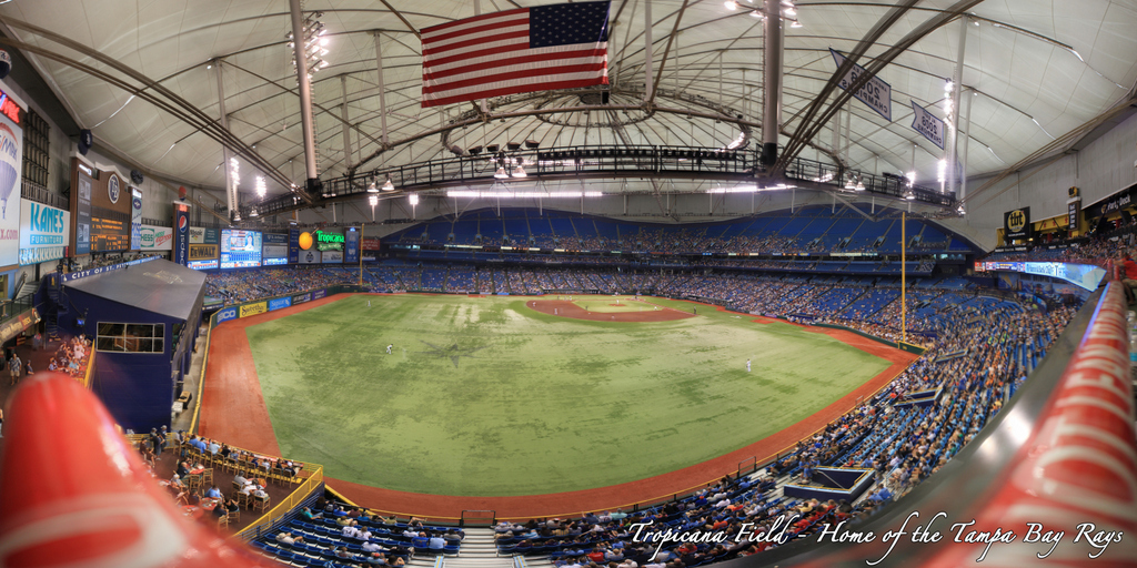 Tropicana Field - Tampa Bay Rays - tbt* Party Deck