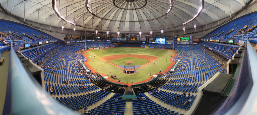 Tropicana Field - Tampa Bay Rays - Upper Reserved Front Row