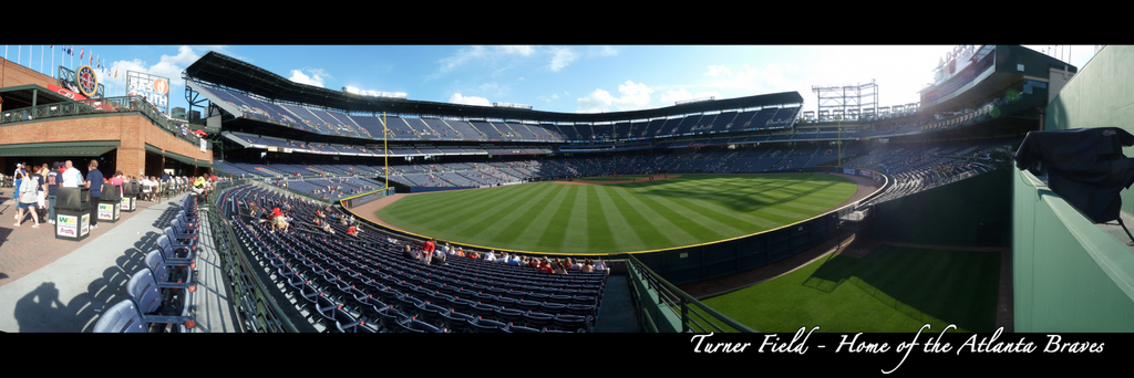 Turner Field Panorama - Atlanta Braves - Behind Bullpen