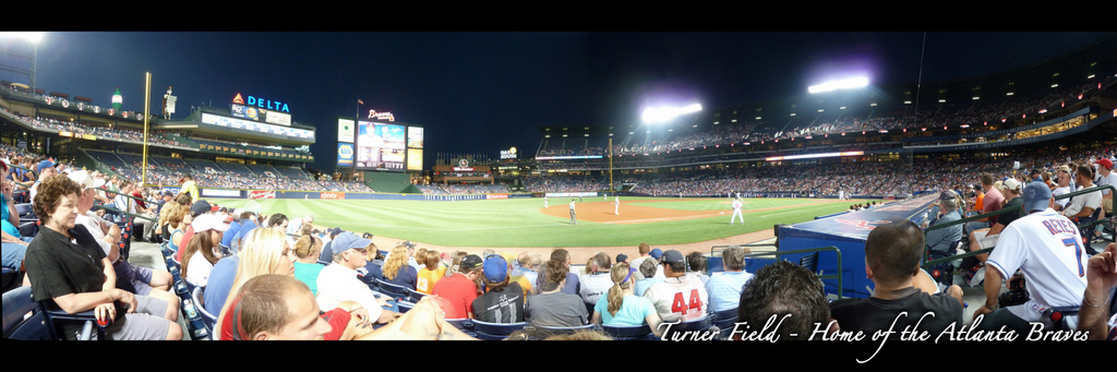 Turner Field Panorama - Atlanta Braves - Visitor's Dugout Night