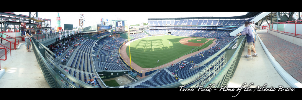 Turner Field Panorama - Atlanta Braves - Skybox Foul Pole