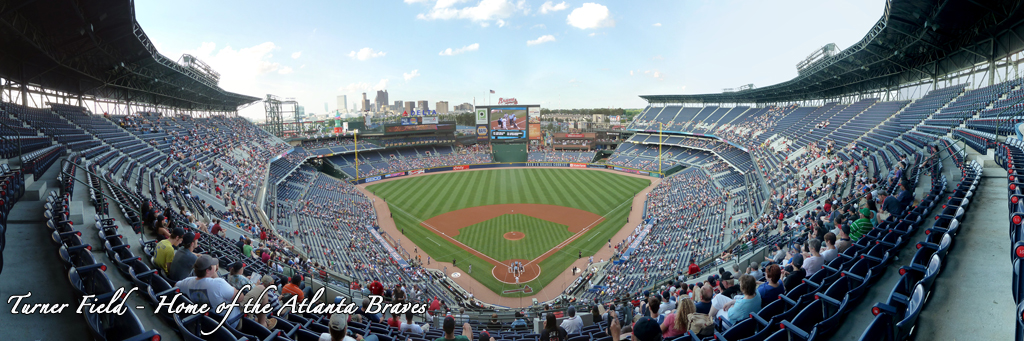 Turner Field Panorama - Atlanta Braves - Behind Home Plate
