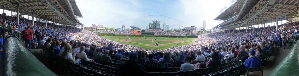 Wrigley Field Panorama - Chicago Cubs - Field Box Infield