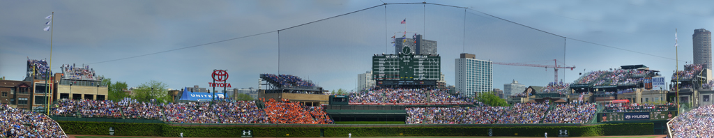 Wrigley Field Outfield Wall - The7Line Army in Orange Shirts