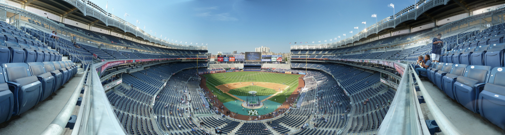 Yankee Stadium Panorama - New York Yankees -Grandstand Front Row