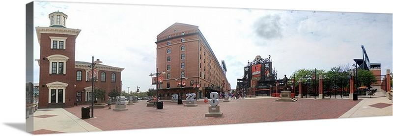 Camden Yards Panorama Baltimore Orioles Eutaw St