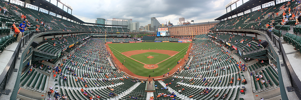 Camden Yards Panorama - Baltimore Orioles - Upper Front Row