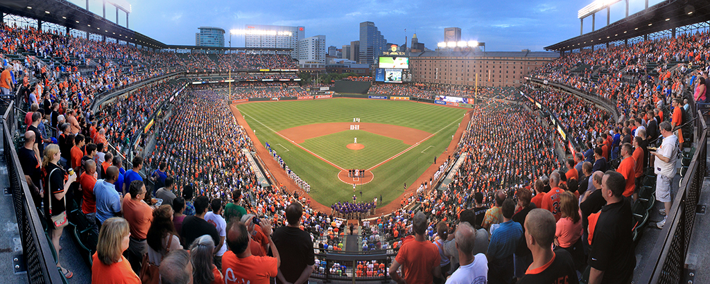 Camden Yards Panorama - Baltimore Orioles - National Anthem