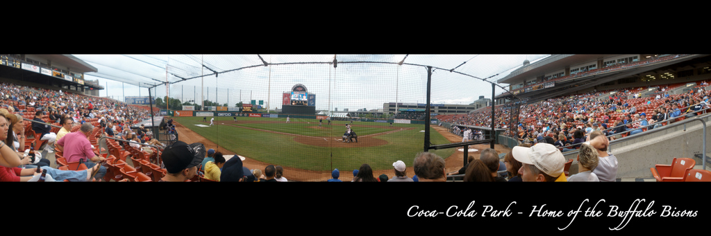 Buffalo Bisons- Coca-Cola Field behind Home Plate