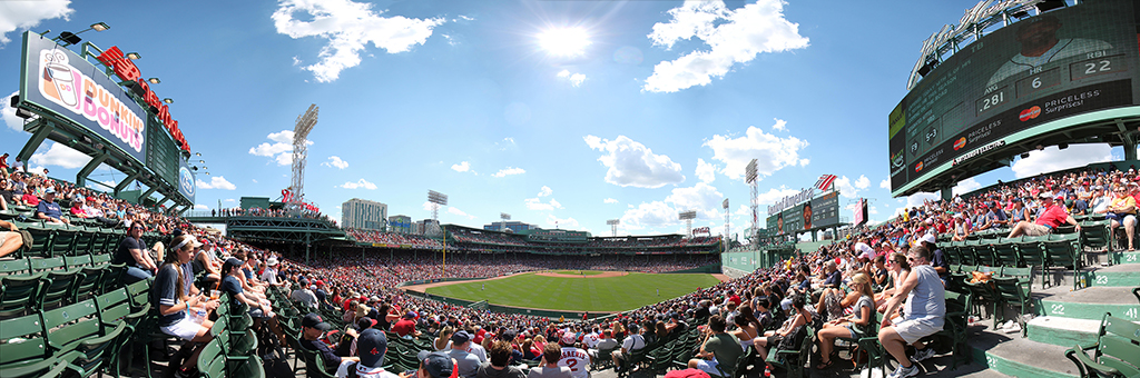Fenway Park Panorama - Boston Red Sox - Bleachers