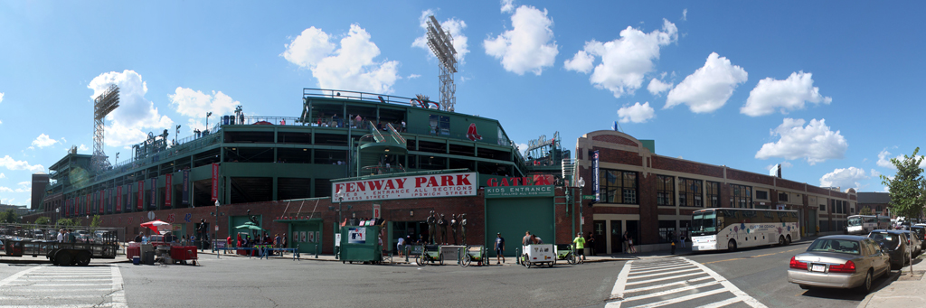 Fenway Park Panorama - Boston Red Sox - Exterior View