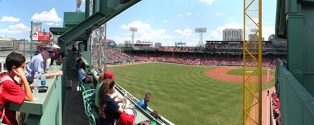 Fenway Park Panorama from the top of the Green Monster