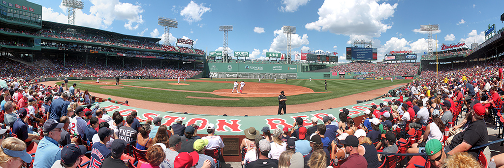 Fenway Park Panorama - Boston Red Sox - Behind Dugout 1B Side