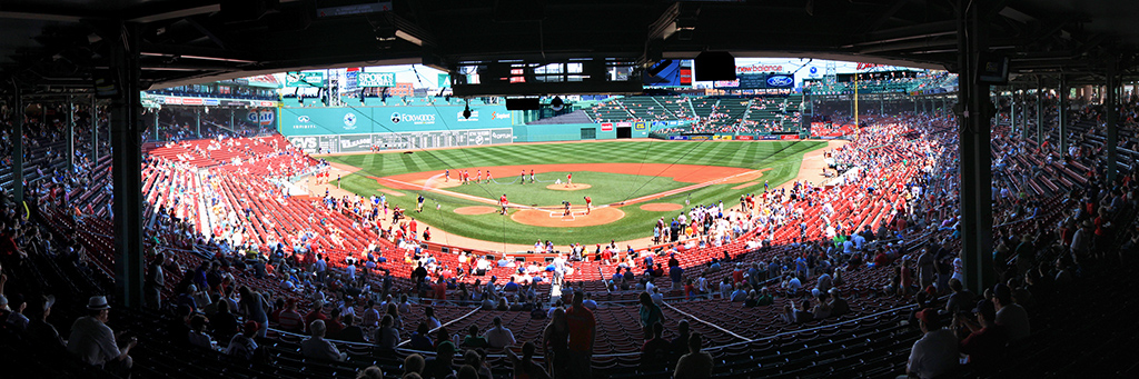 Fenway Park Panorama - Boston Red Sox - Home Plate Back Row