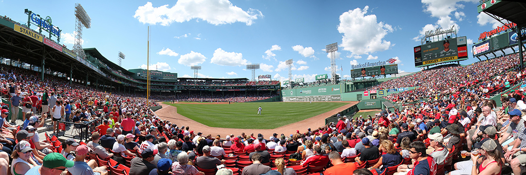 Fenway Park Panorama - Boston Red Sox - Right Field View