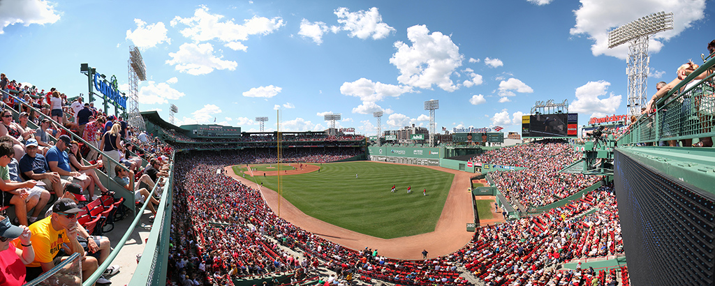 Fenway Park Panorama - Boston Red Sox - Right Field Upper Deck