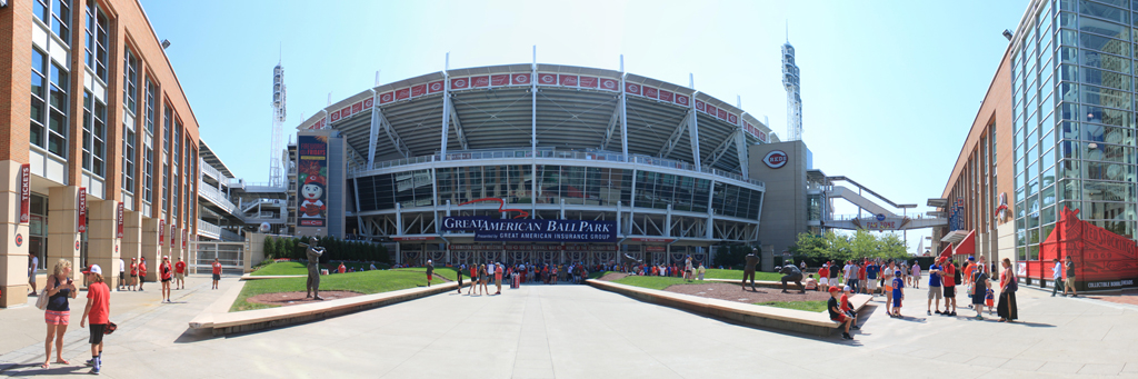 Great American Ball Park Panorama - Cincinnati Reds - Exterior