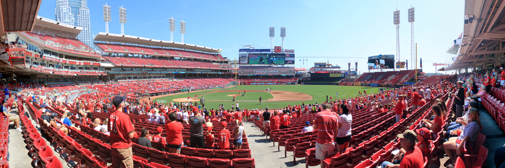 Great American Ball Park Panorama - Cincinnati Reds - Jay Bruce
