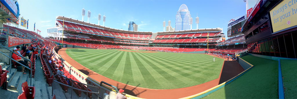 Great American Ball Park Panorama - Cincinnati Reds -Centerfield