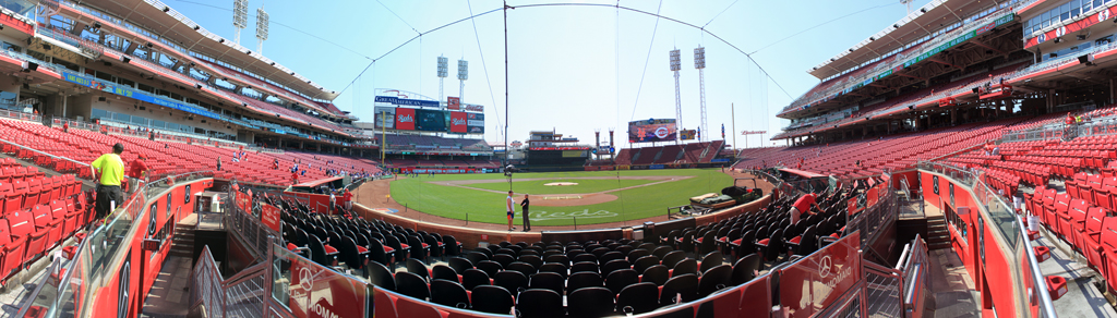 Great American Ball Park Panorama - Cincinnati Reds - Scout Box