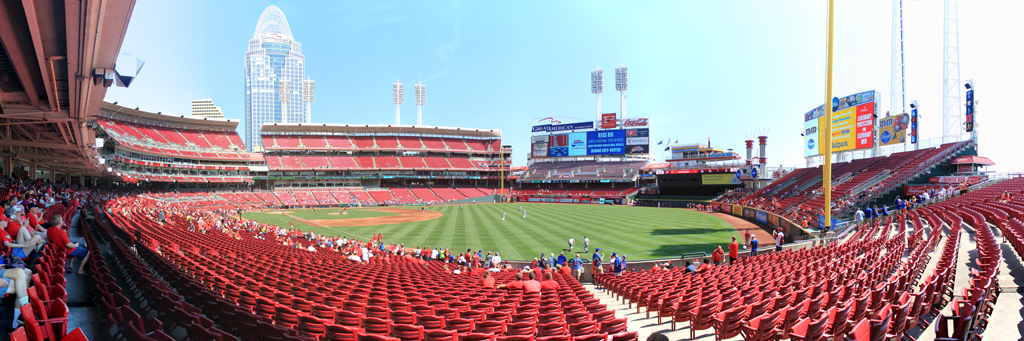 Great American Ball Park Panorama - Cincinnati Reds - Rightfield