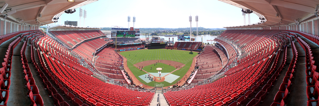 Great American Ball Park Panorama - Cincinnati Reds - Back Row