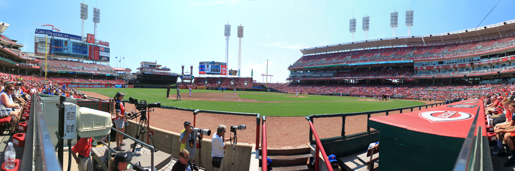 Great American Ball Park Panorama - Cincinnati Reds - Dugout
