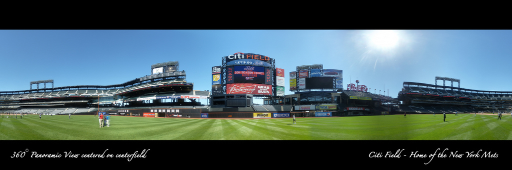 Citi Field Panorama - 360 degrees from centerfield