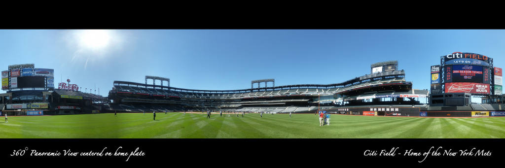 Citi Field Panorama - 360 degrees from centerfield 2