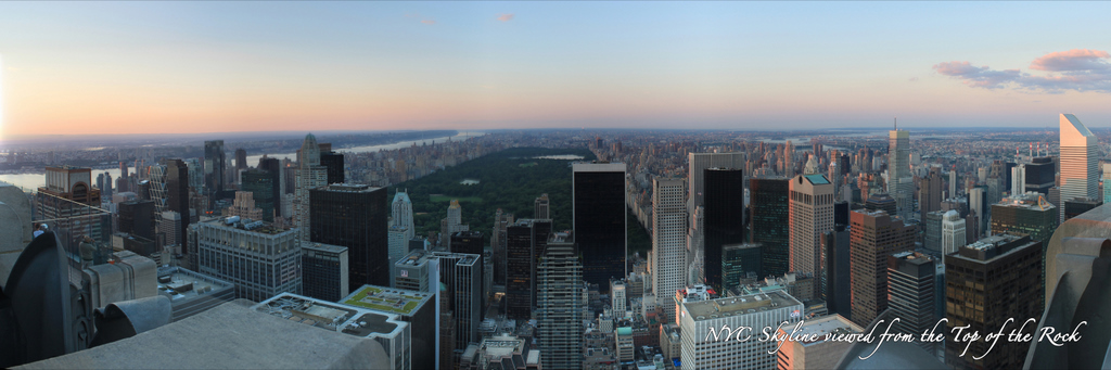 New York City Skyline from the Top of the Rock - Day North