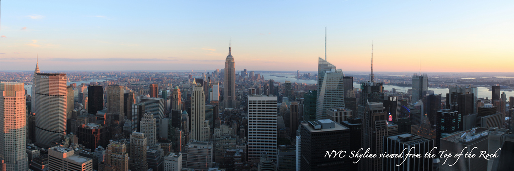 New York City Skyline from the Top of the Rock - Day South
