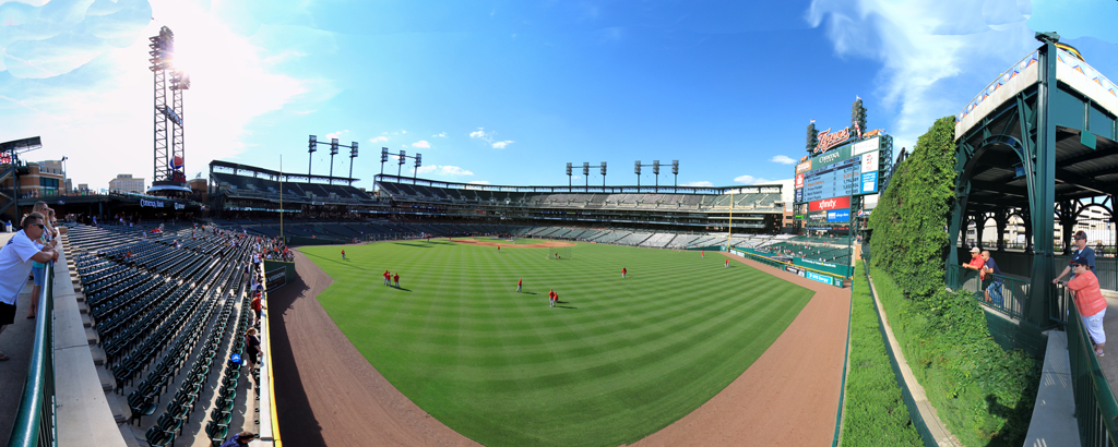 Comerica Park Panorama - Detroit Tigers - Center Field