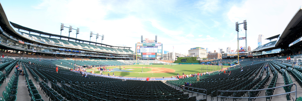Comerica Park Panorama - Detroit Tigers - First Base View