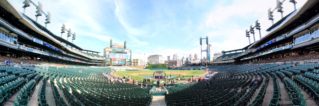 Comerica Park Panorama - Detroit Tigers - Home Plate Lower