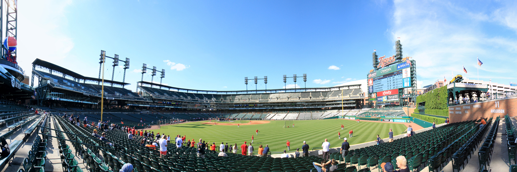 Comerica Park Panorama - Detroit Tigers - Right Field Bleachers