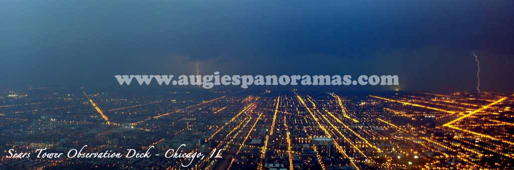 Lightning Strikes from the Top of the Sears Tower