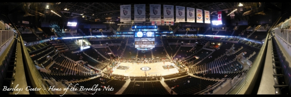Brooklyn Nets - Barclays Center Panorama - Front Row
