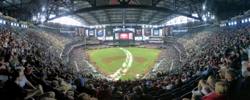 Chase Field Panorama - Arizona Diamondbacks - Infield Reserve