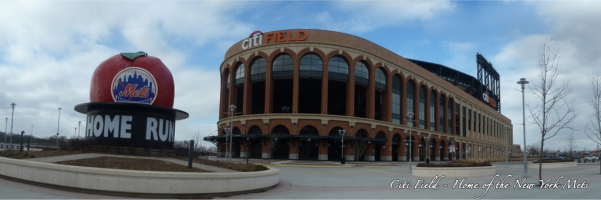 CitiField Homerun Apple Panorama - Jackie Robinson Rotunda